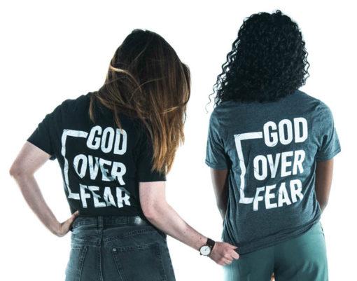 T-Shirt God Over Fear - Arrière